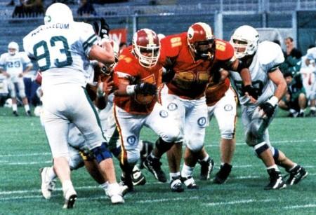 1995: una fase della semifinale giocata a Marassi contro i Phoenix