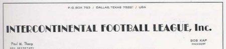 La prima carta intestata della IFL (1972)