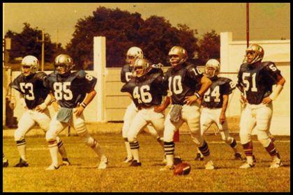 Alcuni atleti della nazionale LIF nel pre-partita (14 Giugno 1981)