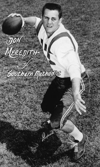 Don Meredith con l'uniforme di SMU
