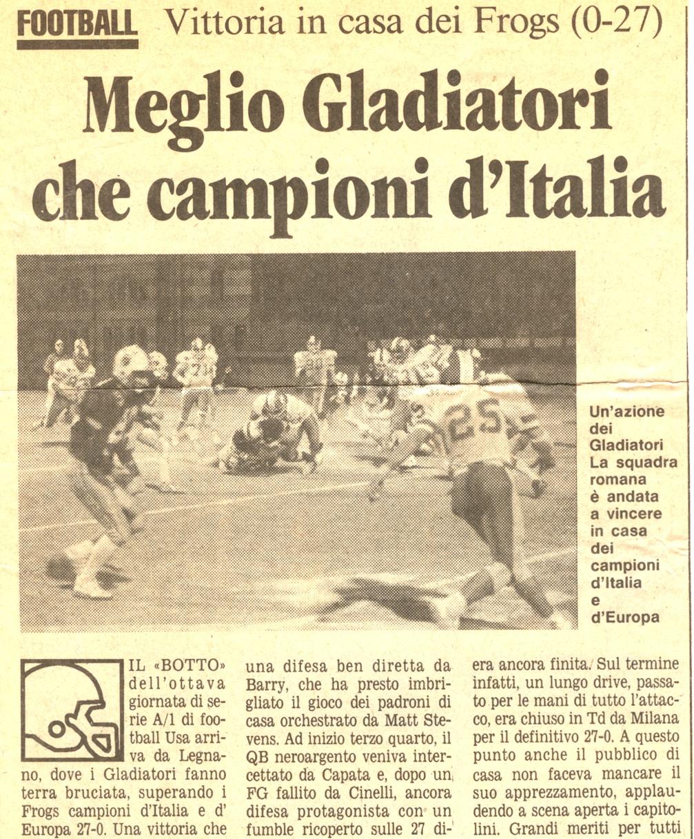 Frogs - Gladiatori 1990