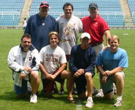Lo staff tecnico al Gladiatori Summer Camp 2005