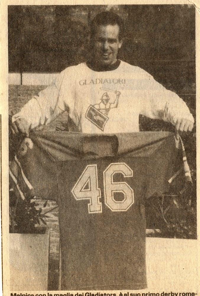Bruce Malpica con la maglia del Gladio (Corriere dello Sport del 22/3/1986)